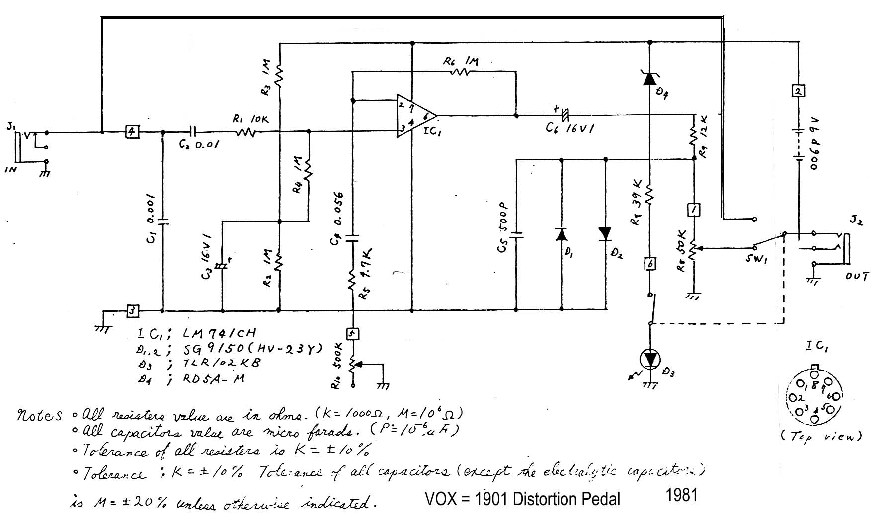 index of diy schematics distortion boost and overdrive