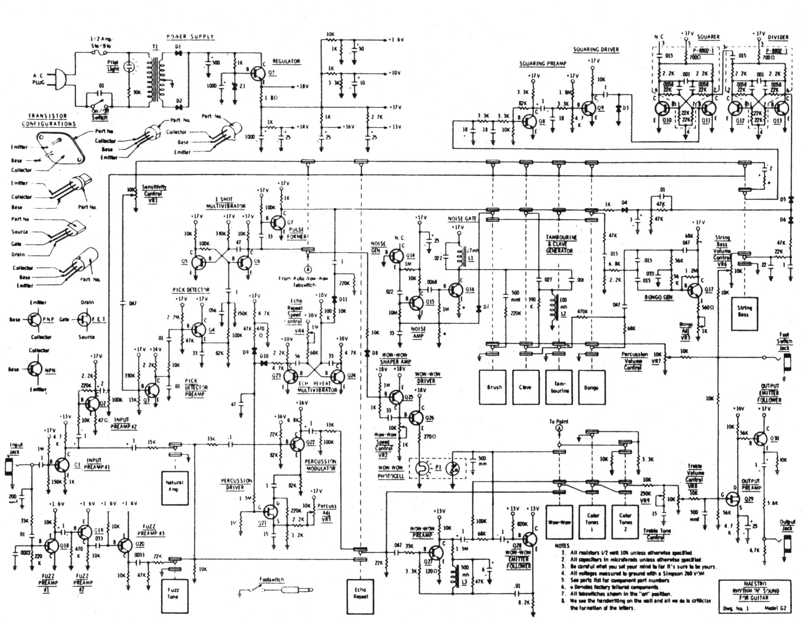 Maestro G on Moog Theremin Schematic