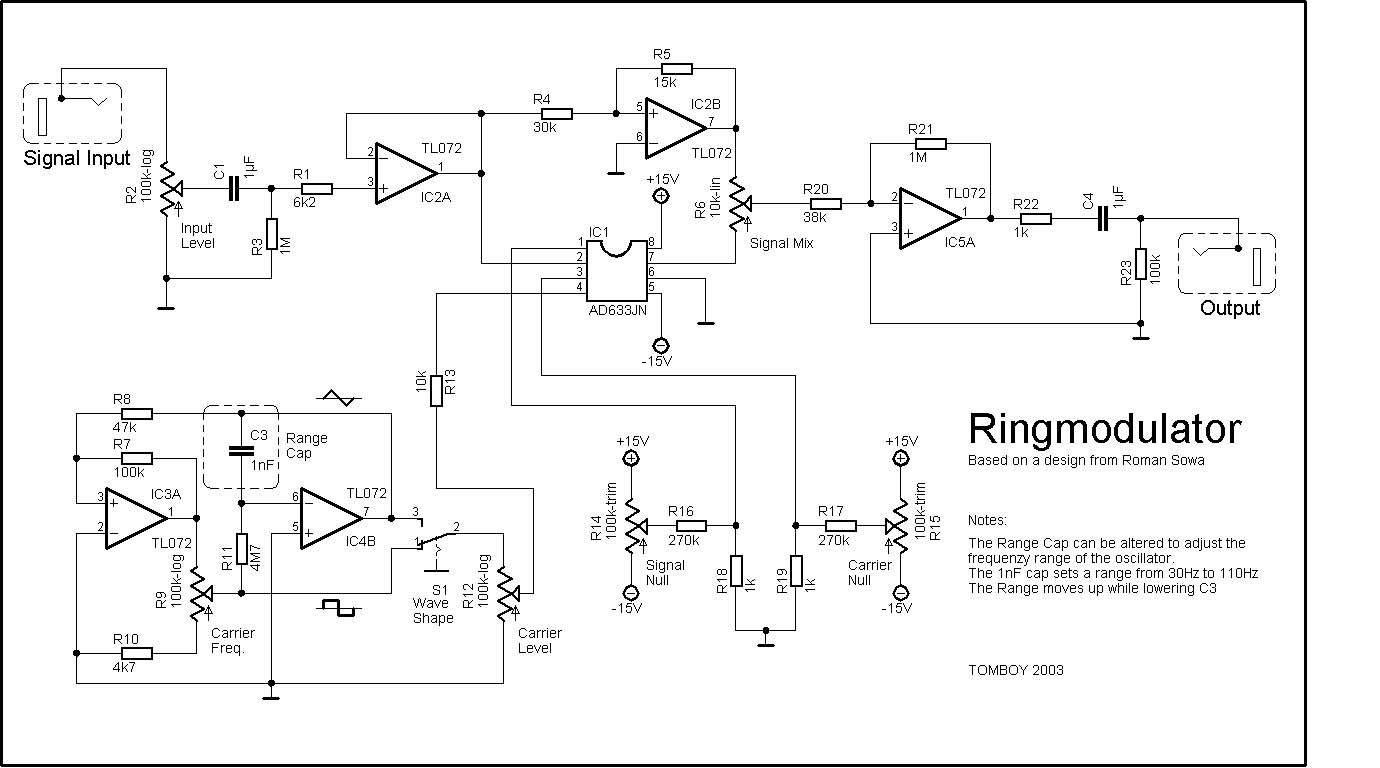 Flanger Pedal Schematic Block And Diagrams Wah Circuit Index Of Diy Schematics Ring Modulators Frequency Overdrive