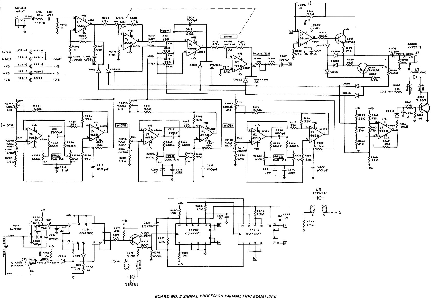 stereo equalizer wiring diagram