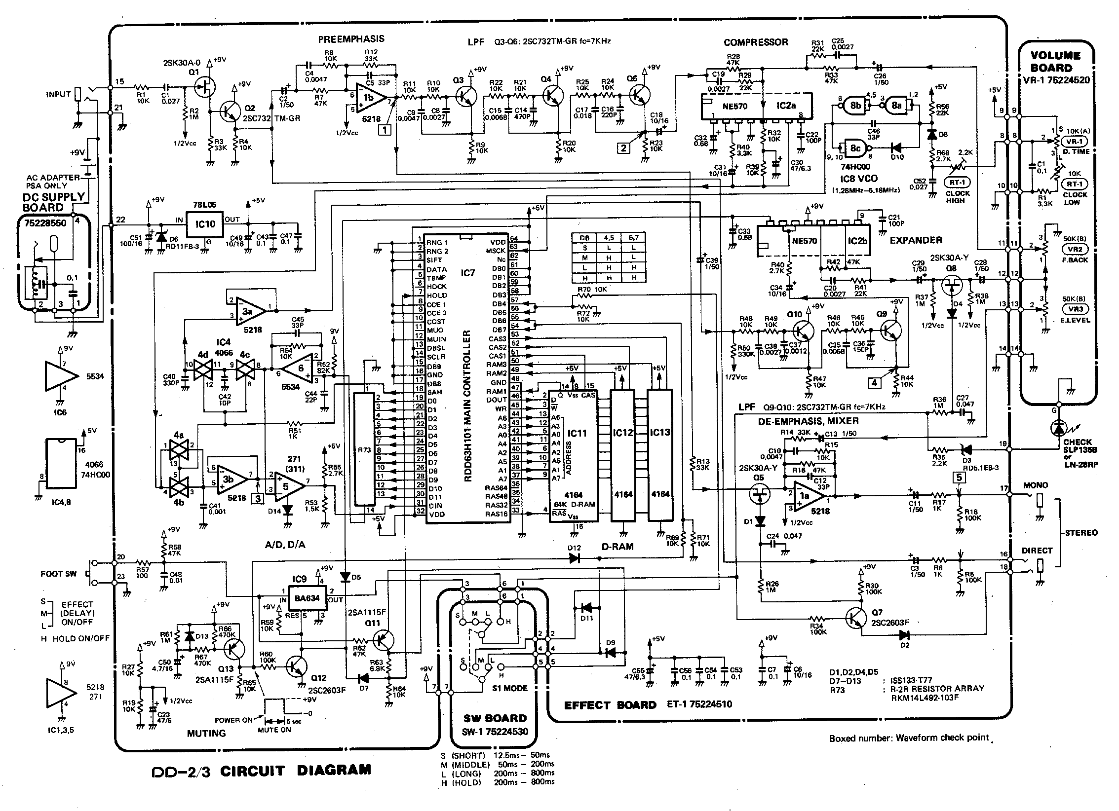 Index Of Diy Schematics Delay Echo And Samplers Digital Voice Record Playback Circuit Schematic Boss Dd 2